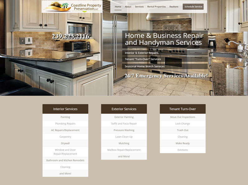 Kitchen Website Design Exterior Portfolio  E's Web Design  Websites  Seo  Fort Myers