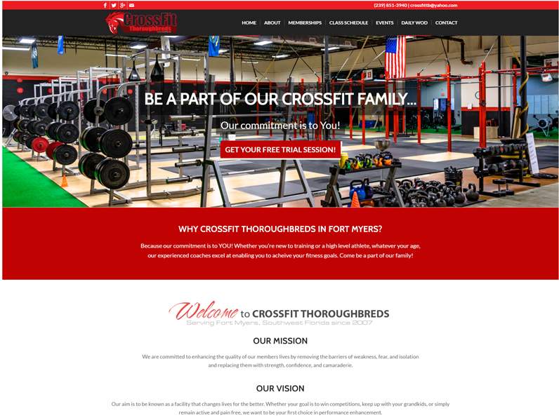 CrossFit Thoroughbreds | Website by E's Web Design in Fort Myers, FL