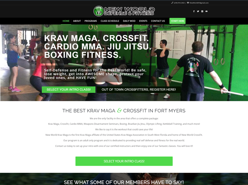 New World Defense & Fitness by E's Web Design in Fort Myers, FL