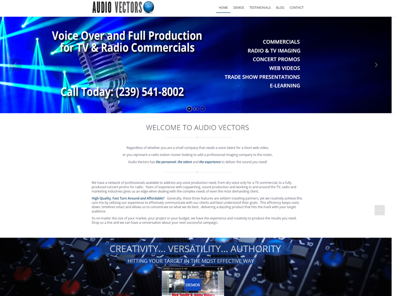 Audio Vectors| by E's Web Design in Fort Myers, FL