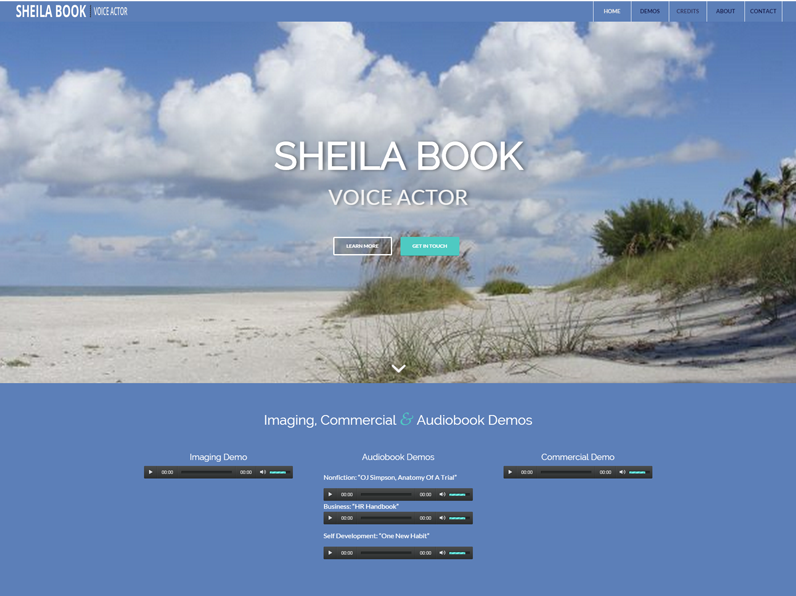 1-Page Website by E's Web Design in Fort Myers | Sheila Book, Voice Actor