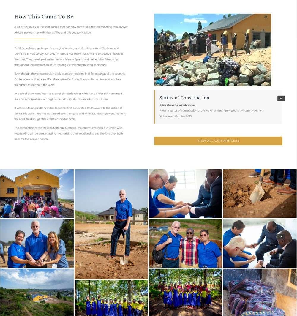 Answer Africa, Non-Profit Organization   E's Web Design